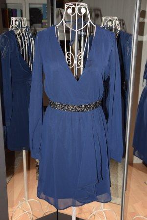 lipsy london Chiffon Dress dark blue