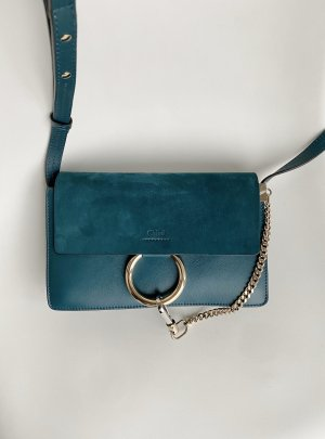 Chloé Crossbody bag forest green-petrol leather