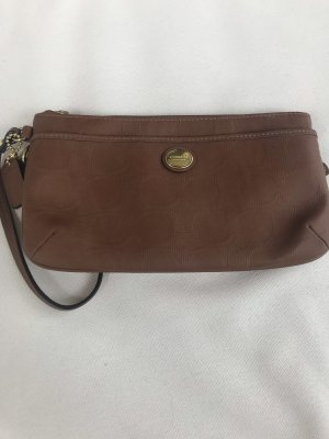 Coach Clutch cognac-coloured leather