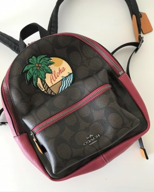 Coach Laptop Backpack multicolored leather
