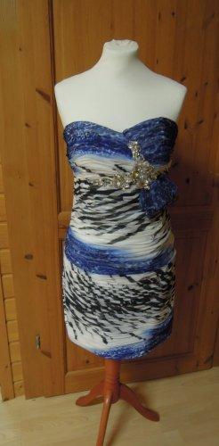 Juju & Christine Chiffon jurk veelkleurig Polyester