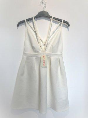Oh my love Sukienka o kroju litery A w kolorze białej wełny
