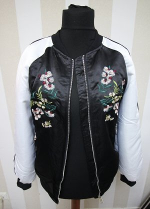 NEU Collegejacke Blumen Muster mix XL