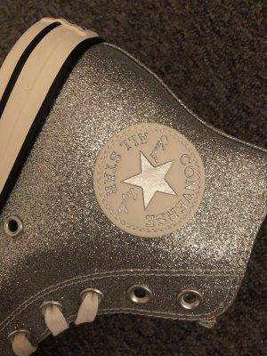 Converse Zapatillas altas color plata-gris claro