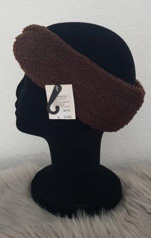 Chapeau en tissu brun