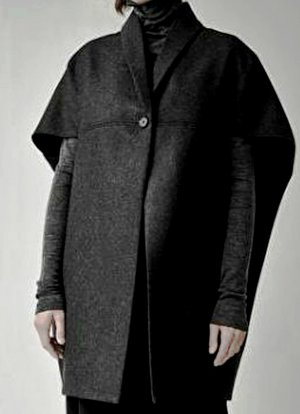 COS Cape black wool