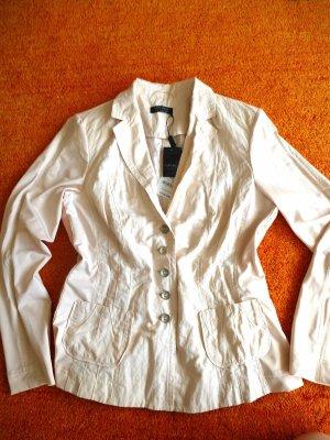 Apanage Blazer corto beige chiaro Cotone