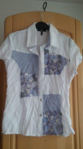 NEU Damen Bluse Crash  Elegant Gr.38 in Weiß/Blau von Kapalua