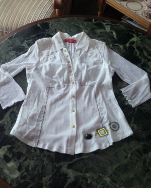 NEU Damen Bluse Hemdbluse Gr.38 in Weiß von LISA CAMPIONE