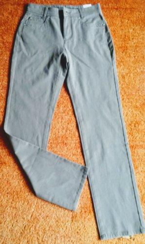 Anna Montana Jeansy ze stretchu szaro-brązowy Bawełna