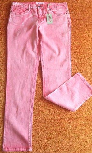 John Baner Jeans elasticizzati salmone Cotone