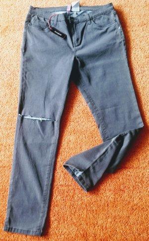 Rainbow Jeans stretch gris-gris foncé coton