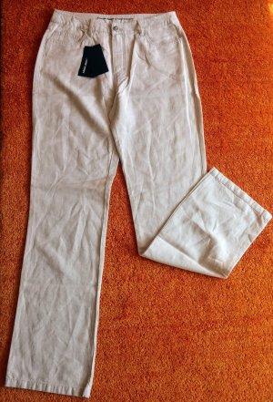 Anna Montana Spodnie materiałowe jasnobeżowy Bawełna