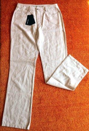 Anna Montana Pantalon en jersey beige clair lin