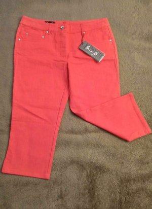 Miss H. 7/8-jeans lichtrood-rood Katoen