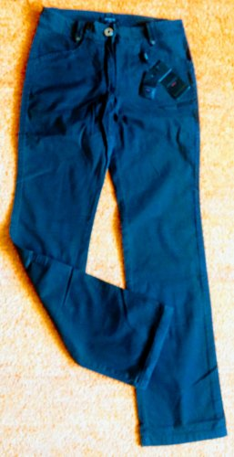 Apanage Stretch jeans donkerbruin Katoen