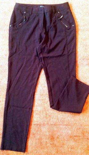 Pantalone elasticizzato marrone scuro Poliestere