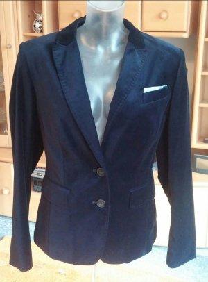 NEU Damen Jacke Elegant Velours edel Blazer Gr.38 in Blau
