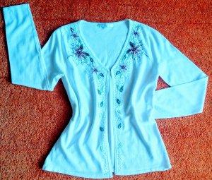 NEU Damen Jacke Sommer strick Cardigan Gr.S in Weiß von Imagini