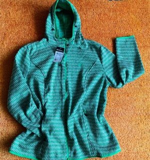 Pure by Ulla Popken Veste en tricot vert-vert clair polyester