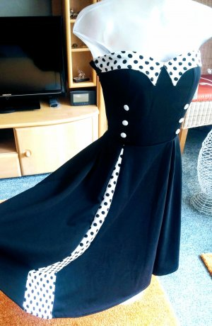 Belsira Robe de soirée noir-blanc polyester