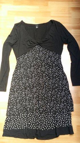 NEU Damen Kleid mit Balero/ schwarz weiß gepunktet/ gr. 42