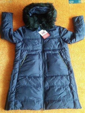 Manteau d'hiver bleu foncé polyester