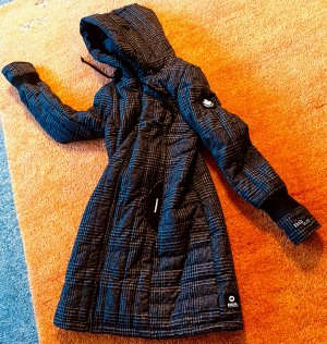 Khujo Hooded Coat black-dark grey polyester
