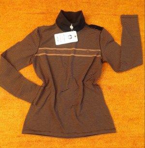 Lisa Campione Turtleneck Sweater beige-dark blue cotton