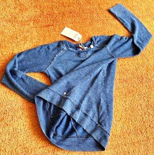 Khujo Maglione girocollo blu acciaio-blu fiordaliso Cotone