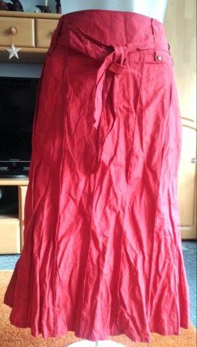 Apanage Spódnica midi czerwony neonowy