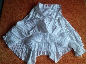 Lisa Campione Jupe en tissu crash blanc-doré coton