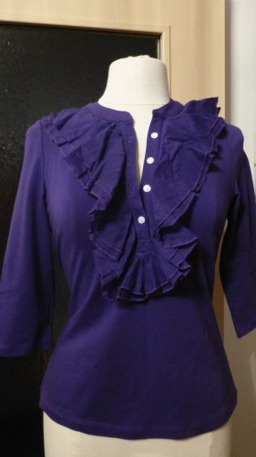 NEU Damen Shirt Rüschen Jersey Gr.S in Lila von Kapalua