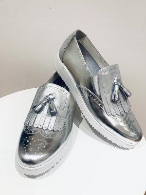 NEU - Damen sneaker Silber Budapester Schuh v Pazolini, Gr. 40, made in