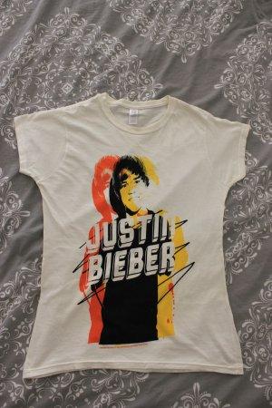 NEU!! DAMEN T-Shirt JUSTIN BIEBER in weiß mit Print GRÖßE XS