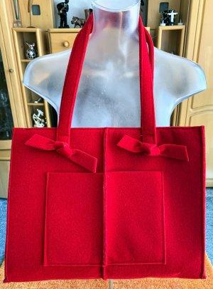 NEU Damen Tasche Filz Umhängetasche in Rot ausgefallen