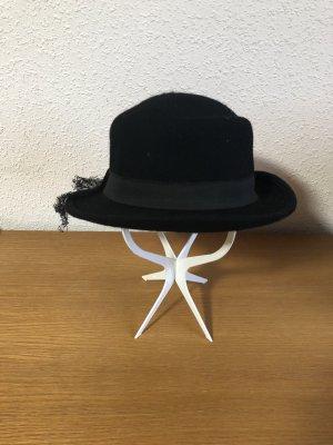 Vintage Woolen Hat black wool