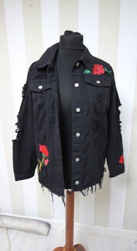 Denim Jacket black-red