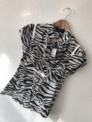 Sand Copenhagen Camicetta a maniche corte bianco-nero Cotone
