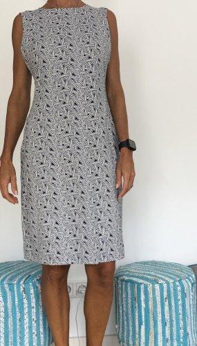 Diane von Fürstenberg Stretch Dress white-dark blue