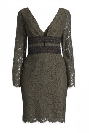 NEU ❤️ Diane von Furstenberg Kleid ❤️ Spitze khaki Gr. 34 36 traumhaft