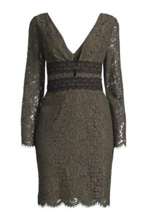 Diane von Furstenberg Lace Dress khaki-black