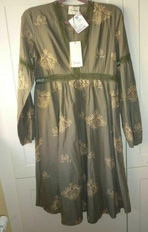 NEU Dixie Kleid oliv beige Gr. S 36 Sommerkleid Strand khaki grün