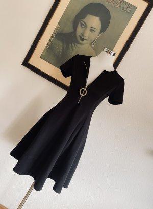 DKNY Sukienka o kroju litery A czarny-złoto