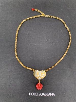 Dolce & Gabbana Collier doré-rouge brique