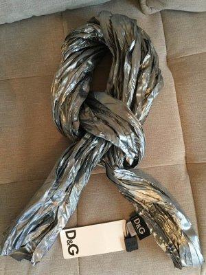 Dolce & Gabbana Gekreukte sjaal zilver Polyester