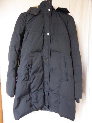 NEU: Dunkelblaue Daunen-Jacke mit Teddyfell-Kapuze von Esprit