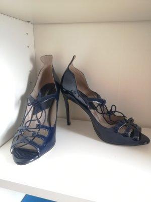 Zara Basic Peep Toe Pumps donkerblauw