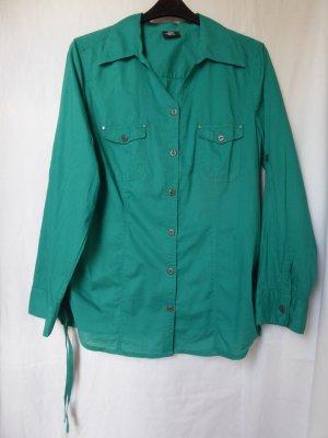 NEU: Dunkeltürkise Hemd-Bluse mit Knöpfen
