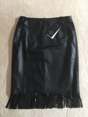 Madeleine Leather Skirt black leather